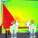 Comfort analysis near glazing using CFD