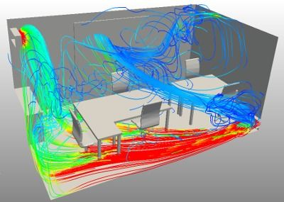 CFD model of office air conditioning